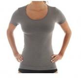 Koszulka damska COMFORT WOOL SS11020 (szary)