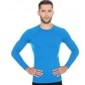 Brubeck Koszulka męska ACTIVE WOOL długi rękaw LS12820 (niebieski)