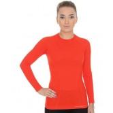 Brubeck Koszulka damska ACTIVE WOOL długi rękaw LS12810 (ceglasty)