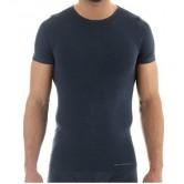 Brubeck Koszulka męska COMFORT WOOL  SS11030 (ciemny jeans)