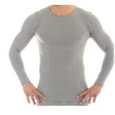 Koszulka męska COMFORT WOOL długi rękaw LS11600 (szary)