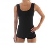 Koszulka damska bez rękawów COMFORT WOOL TA10170 (czarny)