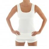 Brubeck Koszulka damska bez rękawów COMFORT WOOL TA10170 (kremowy)
