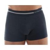 Bokserki męskie COMFORT WOOL BX10430 (ciemny jeans)