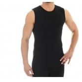 Koszulka męska bez rękawów COMFORT WOOL SL10160 (czarny)