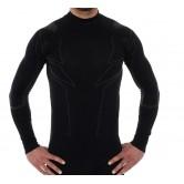 Brubeck Bluza MĘSKA COOLER z długim rękawem LS11800 czarny
