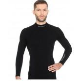 Brubeck Bluza męska EXTREME WOOL długi rękaw LS11920 (czarny)