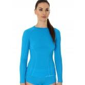 Brubeck Koszulka damska ACTIVE WOOL długi rękaw LS12810 (jasnoniebieski)