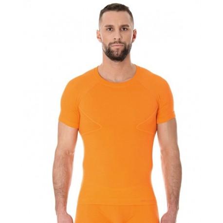 Brubeck Koszulka męska ACTIVE WOOL krótki rękaw SS11710 (pomarańczowy)