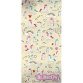 Dr. Bacty Ręcznik 70x140cm (JEDNOROŻEC ŻÓŁTY) XL
